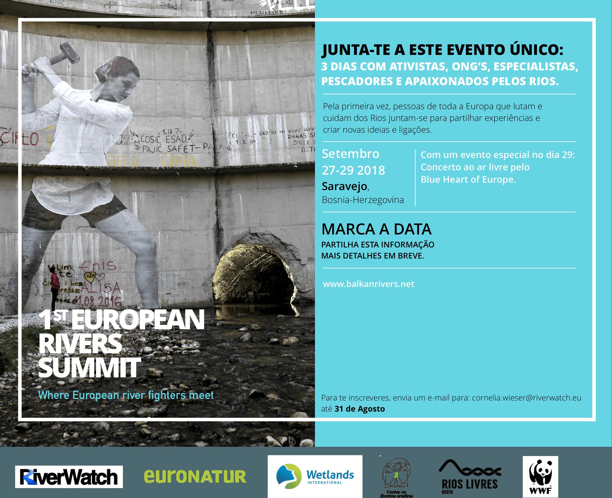 Inscreve-te na 1ª Cimeira Europeia dos Rios