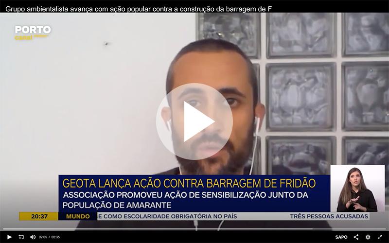 Porto Canal | GEOTA avança com ação popular contra a construção da barragem de Fridão