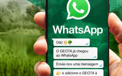 O GEOTA já chegou ao WhatsApp!